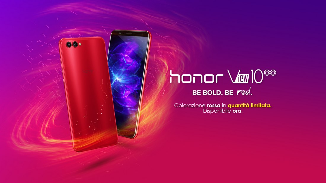 Honor View 10 Crush Red