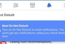 facebook non disturbare