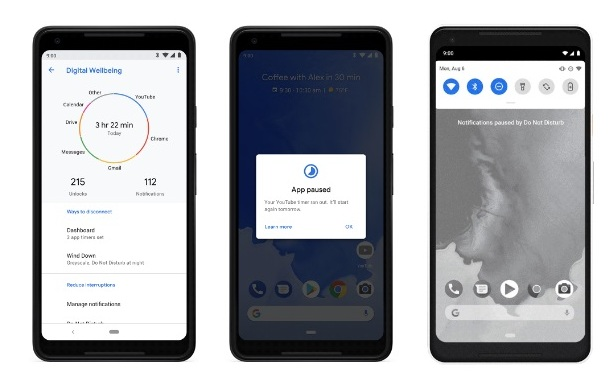 Android 9 Pie benessere digitale